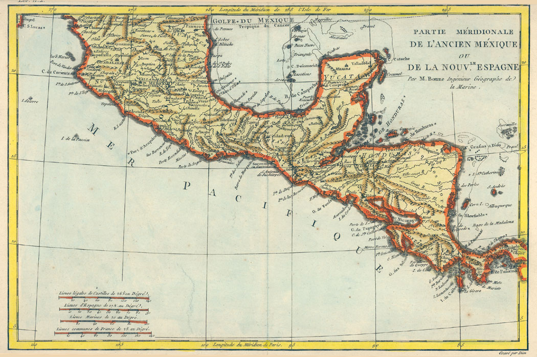 Mexico Map 1794.Rare Books And Special Collections Maps Of Mexico Niu