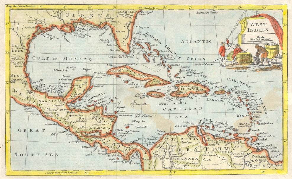 Rare books and special collections maps of the west indies niu map of the west indies from 1767 thumbnail gumiabroncs Image collections