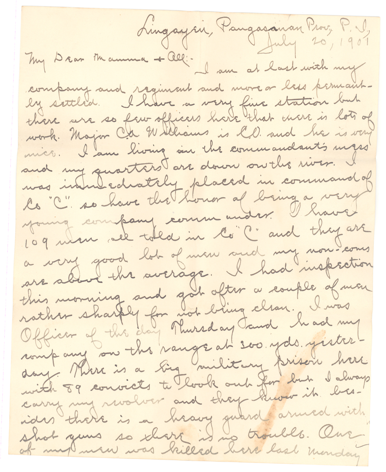 Spanish american warphilippine war somethin to write home letter to mamma and all aljukfo Image collections